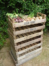 8 Potato Chitting Trays / Vintage Wooden Boxes / Bushel Box / Old Storage Boxes