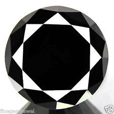 5.95ct WOW HUGE RARE 100% NATURAL JET BLACK DIAMOND CERTIFIABLE REAL DIAMOND~NR!