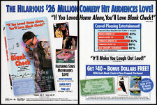 BLANK CHECK__Orig. 1994 Trade AD movie promo__BRIAN BONSALL__KAREN DUFFY__Disney