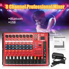 SMR801 8 Channel Bluetooth Mixer USB DJ Amplifier Stage Bar KTV Mixer New Hot