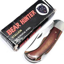 BEAR HUNTER STALLION KNIFE KNIVES SOLINGEN STEEL VINTAGE LOCKBACK FOLDING POCKET