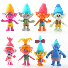 8 Dreamworks Movie Trolls Action Figure Doll Kids Playset Toy Cake Topper Decor
