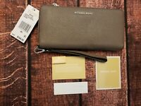 Michael Kors Mercer Collection Cinder Leather wallet travel continental NWT RFID