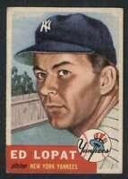 1953 Topps #87 Ed Lopat EX/EX+ Yankees 87732