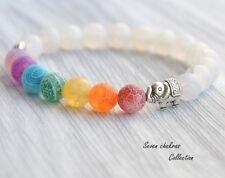 7Chakra Healing Balance Beads Bracelet Yoga Life Energy Bracelet Lovers Jewelry