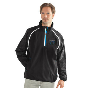 G-III Sports Carolina Panthers Men's Oxygen Half Zip Pullover Jacket, M-5XL
