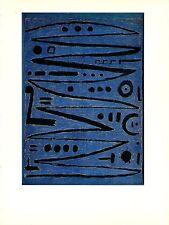 "1967 Vintage PAUL KLEE ""HEROIC FIDDLING"" BUSCH FABULOUS COLOR offset Lithograph"