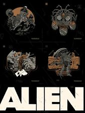 SIGNED UNCUT VARIANT Tyler Stout Alien Handbill Set Movie Poster Art Print Mondo