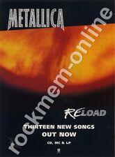 Metallica Reload LP Advert