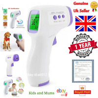Digital Infrared Thermometer Non Contact Baby Adult Pet No Touch Forehead IR UK