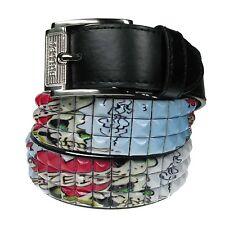 Adult Fashion Jeans Wear Pyramid Studded Polyurethane Leather Press Stud Belt
