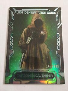 Topps Star Wars Masterwork 2016 Alien Identification AI-3 Jawa #167/299