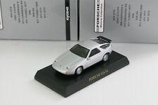 Porsche 928 S4 1991 Silver 1/64 Kyosho Porsche 1 MinicarCollection 2005