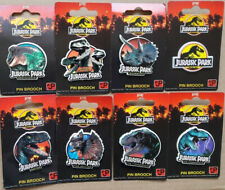 Lot de 8 pin's Jurassic Park avec supports