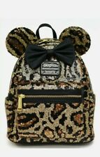 NEW Disney Parks Loungefly Sequined Animal Leopard Print Mini Backpack NWT