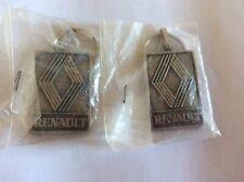 2 porte clefs RENAULT -garage-voiture-vintage-keychain