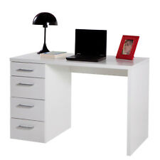 Scrivania bianca per ufficio con 4 cassetti 110x60 cm arredo moderno novità