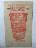 Vintage Ft. Bedford Peanut Butter Advertising Trade Card Puzzle