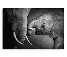 120x80cm TELA BARELLA Animali Africa famiglia elefante