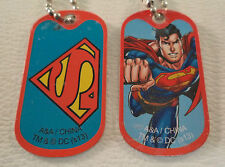 New DC Comic Superman Justice League Set 2 of Dog tags Key Chains Gift Party