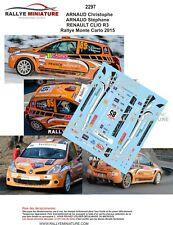 DECALS 1/43 REF 2297 RENAULT CLIO R3 ARNAUD Rallye Monte Carlo 2015