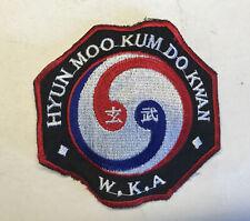 Vintage Hyum Moo Kum Do Kwan W.K.A Patch Taekwondo judo Karaté