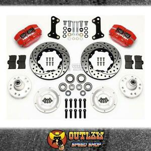 WILWOOD FRONT DISC BRAKE KIT RED FITS CHEV/BUICK/OLDS/PONTIAC/GMC-WIL14013202DR