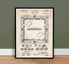 MONOPOLY POSTER Board Game US Patent Poster Print 18x24 Reproduction Gift 1935