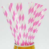 JI_ 25Pcs Disposable Paper Straws Wedding Birthday Party Decor Drinking Straw