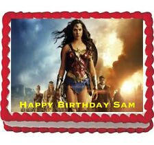 Wonder Woman the movie party edible cake image cake topper 1/4 frosting sheet