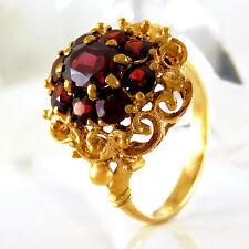 Ring in 333/- Gelbgold  - 9 Granat Edelsteine Gr. 55