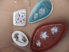 4 Designer Studio pottery plats
