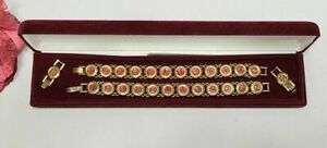 NIB Set 2 - CAMROSE & KROSS 24K GP JACKIE KENNEDY CASTELLANI WEDDING BRACELETS