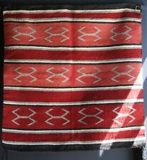 1930s Navajo Saddle Blanket Woven Red, Cream, Black, Natural Grey Wool