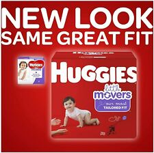 Huggies Little Movers Baby Diapers, Size 3-6, Giga Pack