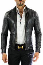 ★Giacca Giubbotto Uomo in di PELLE 100%★ Men Leather Jacket Veste Homme Cuir 18p