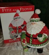 "New ListingFitz and Floyd Stocking Stuffers 13.5"" Santa Claus Cookie Jar Christmas 2007"