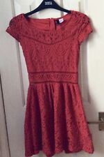 Lovely Red lace dress petite size 8