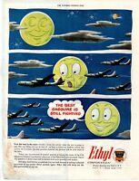 1945 ORIGINAL VINTAGE ETHYL GASOLINE MAGAZINE AD
