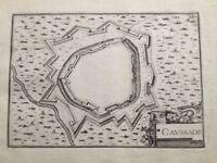 Tarn et Garonne Caussade en 1638 rare carte ancienne Atlas Tassin
