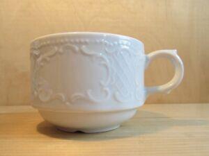 1tlg. Kaffeetasse Seltmann Weiden Salzburg Ornamente weiß 180ml
