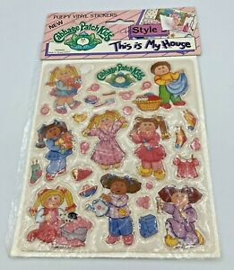 New! 1984 Vintage Cabbage Patch Kids Puffy Vinyl Stickers Doll Toy Hard_8s_Magic