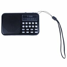Mini Portable LED Digital FM Radio Speaker USB Micro SD TF Card MP3 Music P D2A6