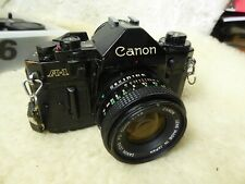 Canon A-1 Film Camera & Canon FD 50mm F1.8 Lens film tested + extras cap