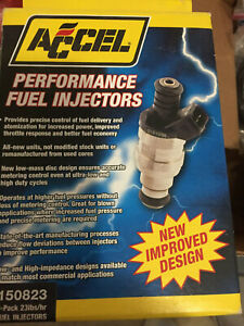 8 ACCEL FUEL INJECTORS # 150823  23 lb/hr HIGH IMPEDANCE GM ZR-1 Z-28 FORD SVT