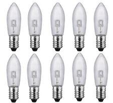 10x Candle Arch Bridge Bulb Christmas Lamp Spare E10 LED Screw Light 9V - 34V AC