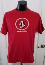 Volcom Surfing Skateboard Beach Red T Shirt Large Retro Vintage Rare