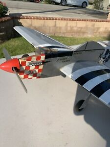 RARE, VINTAGE! P51 Rc Airplane  U-Control, Very Detailed Build, 60's-70's Era.