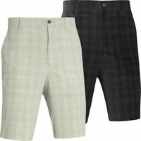 MIZUNO GOLF CHECK FLAT FRONT MENS GOLF SHORTS 60% OFF RRP