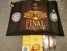More details for champions league final 2010 programme/flag & leaflet lot inter milan bayern